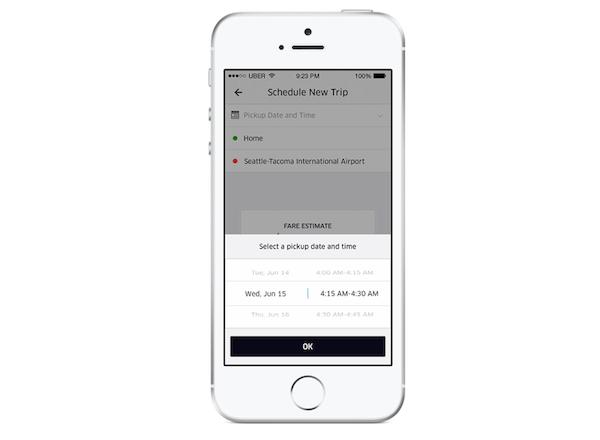 uber scheduled rides
