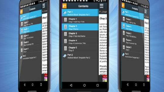نموذج eBook من Android مع Admob
