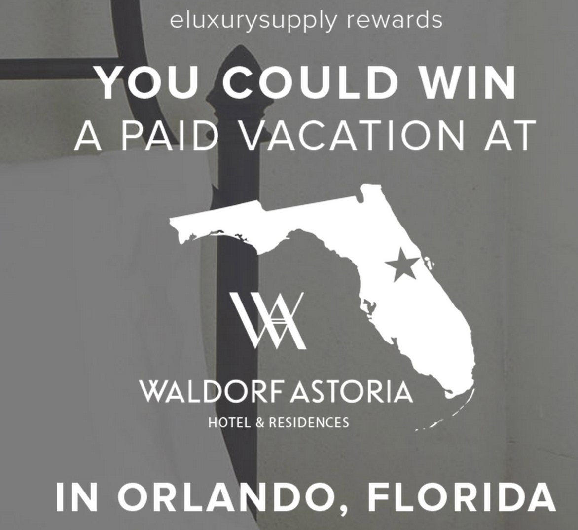 eLuxurySupply Orlando Vacation Giveaway. Ends 4/17