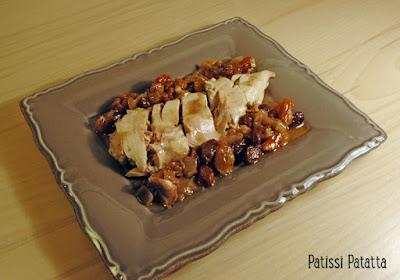 recette de pintade aux noix et raisins, recette festive, plat festif, pintade, sauce noix et raisins