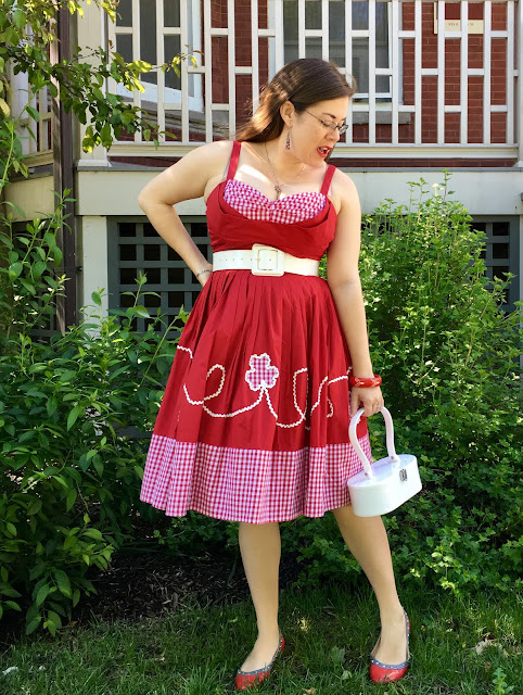 Trashy Diva red picnic Lena dress and lola von rose purse