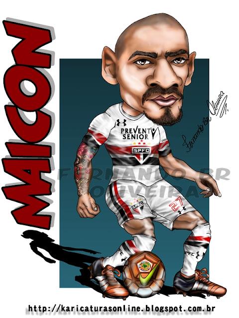 Caricatura Maicon Zagueiro SPFC 2016