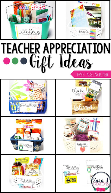Free teacher appreciation gift ideas and tags