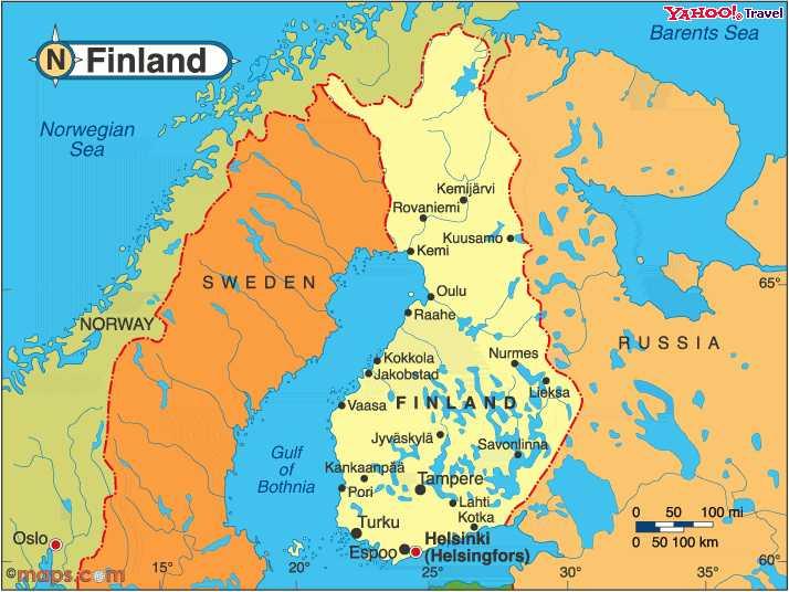 Finlândia | Mapas Geográficos da Finlândia