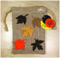 Use burlap or linen pouches
