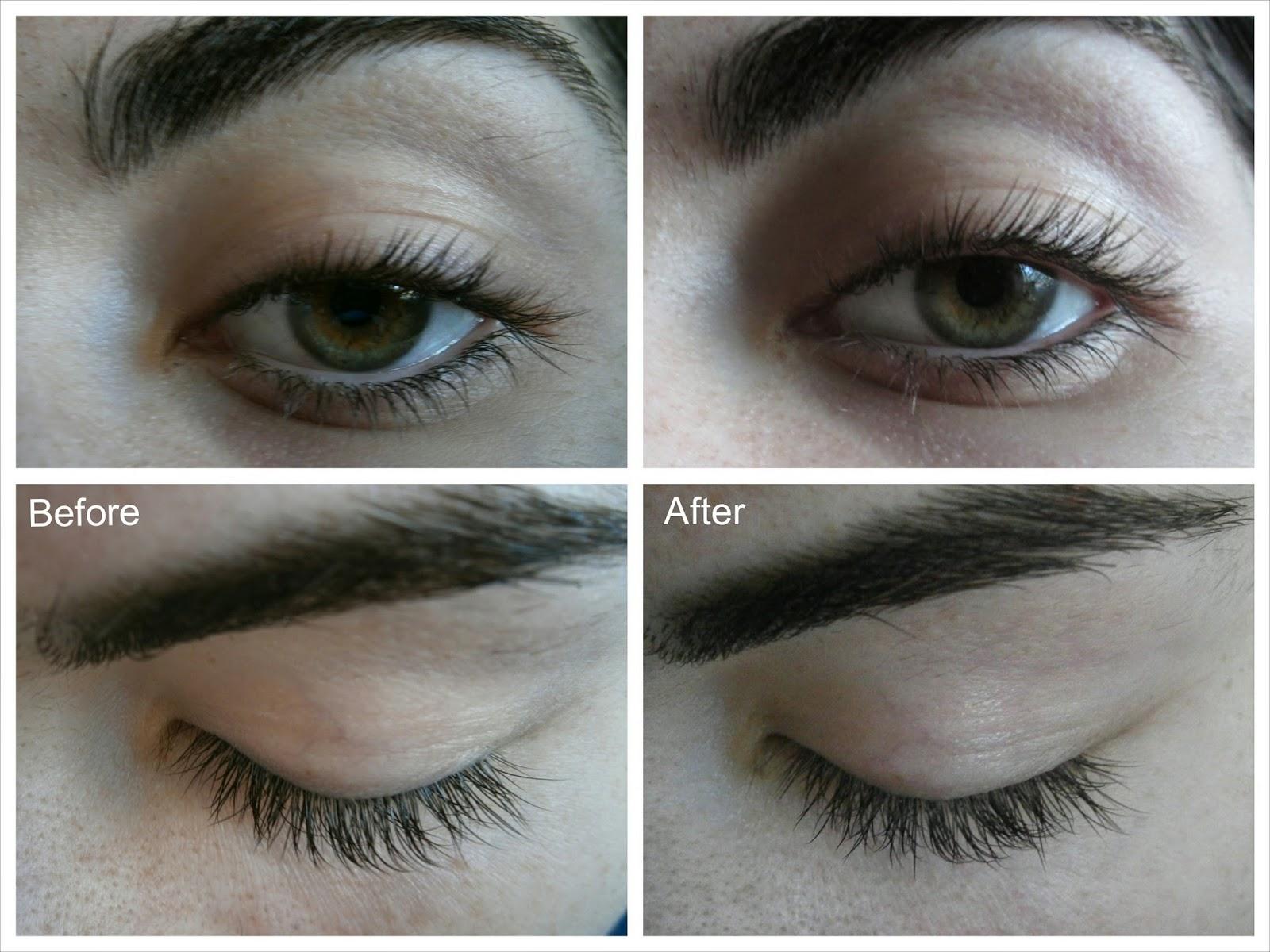 realash eyelash enhancer before and after