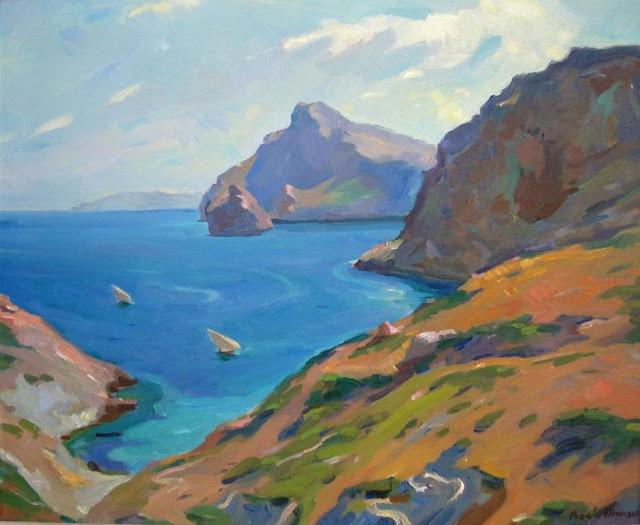Pascual Roch Minue, Acantilados de Palma, Mallorca en Pintura, Mallorca pintada, Paisajes de Mallorca