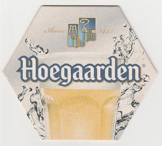 Un sous-bock de la biére Hoegaarden