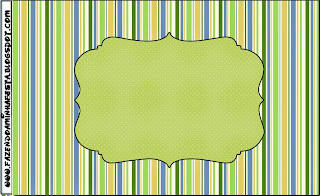 Green, Blue and Orange, Free Printable Candy Bar Labels.