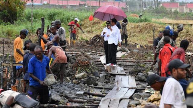 Di Papua Barat, Presiden Jokowi Ingin APBD Sebagian Digunakan untuk Program Padat Karya Tunai