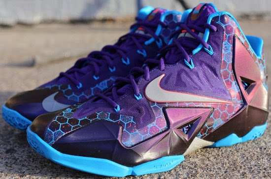 reputable site b3561 6708a This Nike LeBron 11 comes in a court purple, reflective silver and vivid  blue colorway. Known as the