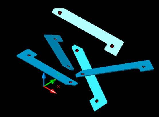 Gambar/Model 3D, Bracket Sederhana PB-080 dengan AutoCAD