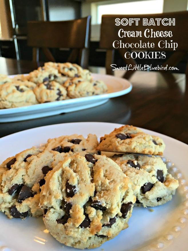 Soft Batch Chocolate Chip Cookies Cream Cheese