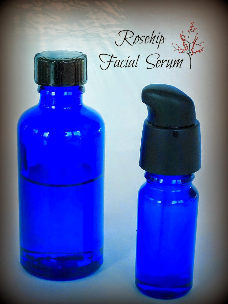 Facial Serum, Rose hip oil, essential oils, body care, Making on the Mountain