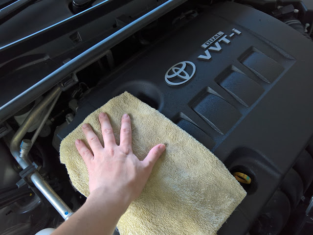 Wipe with microfiber towel