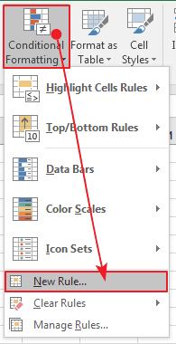 Cara menggunakan conditional formatting excel