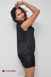 Model Sonia Pictures in Black Dress at Yes Mart Event  0025