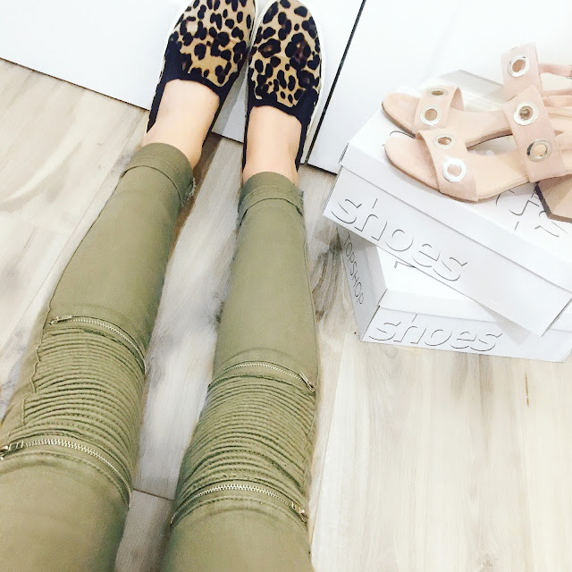 missguided biker jeans leopard print shoes
