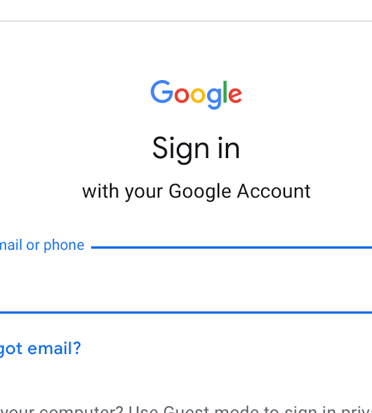 Changes to the Google sign-in interface coming soon