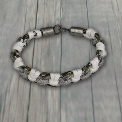 325 Paracord Zipper Knot Bracelet from Pepperell Braiding Company