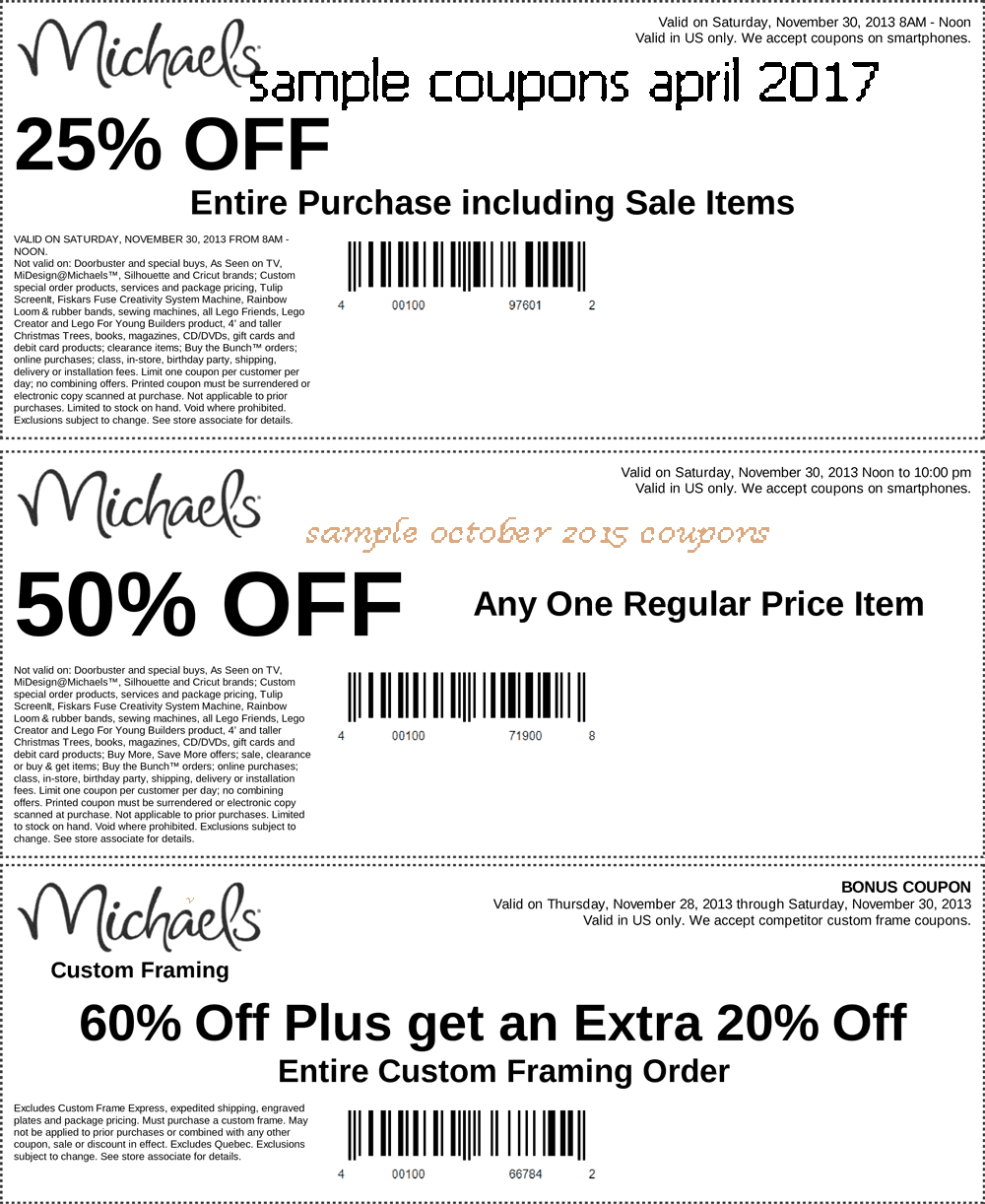 Michaels coupon august 12 2018