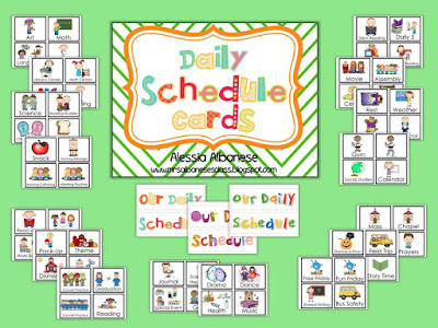 https://www.teacherspayteachers.com/Product/Daily-Schedule-Cards-805672