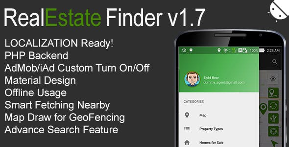 realestate apk, realestate source code, real estate finder full android application