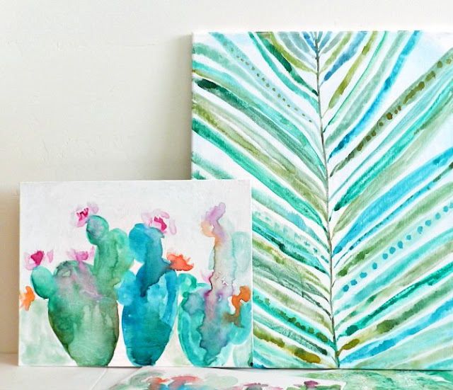 painting watercolors on canvas: grow creative blog