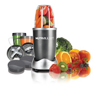 Magic Bullet NutriBullet NBR-12 12-Piece High-Speed Blender/Mixer System, with powerful 600 watt motor with cyclonic action and patented extractor blades, breaks down fruits, veg, nuts, seeds, ice to make smooth juice & smoothies