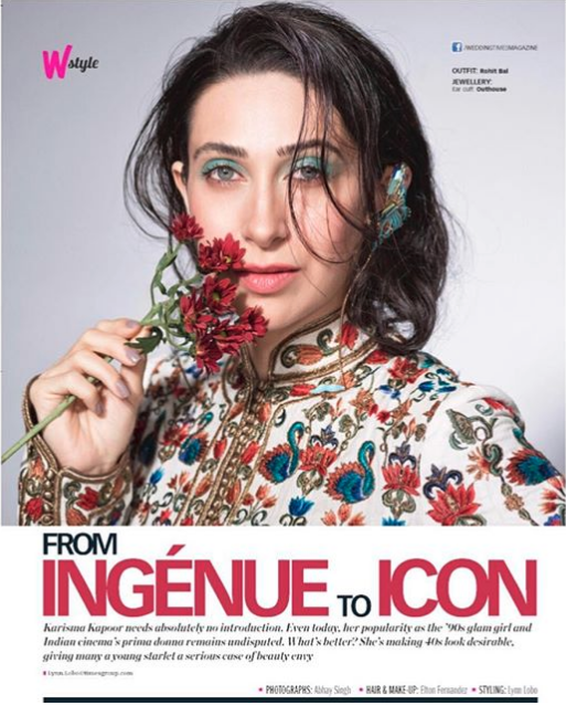 Karishma Kapoor Awesome Photoshoot for Cover of Femina Wedding Times Magazine July 2017