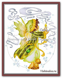 Cross stitch chart «KAM 112 Sweet Dreams + pm - artwork by Karen Middleton»