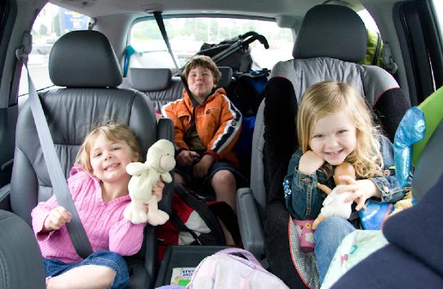 Transporte com os filhos em Orlando