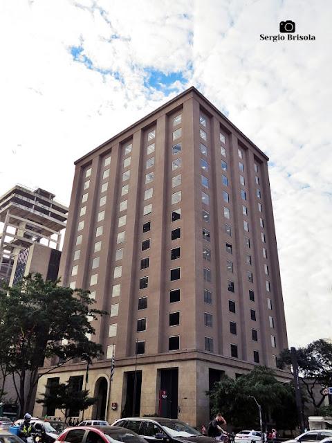 Vista ampla do Edifício Banco Mercantil de São Paulo - Bela Vista - São Paulo