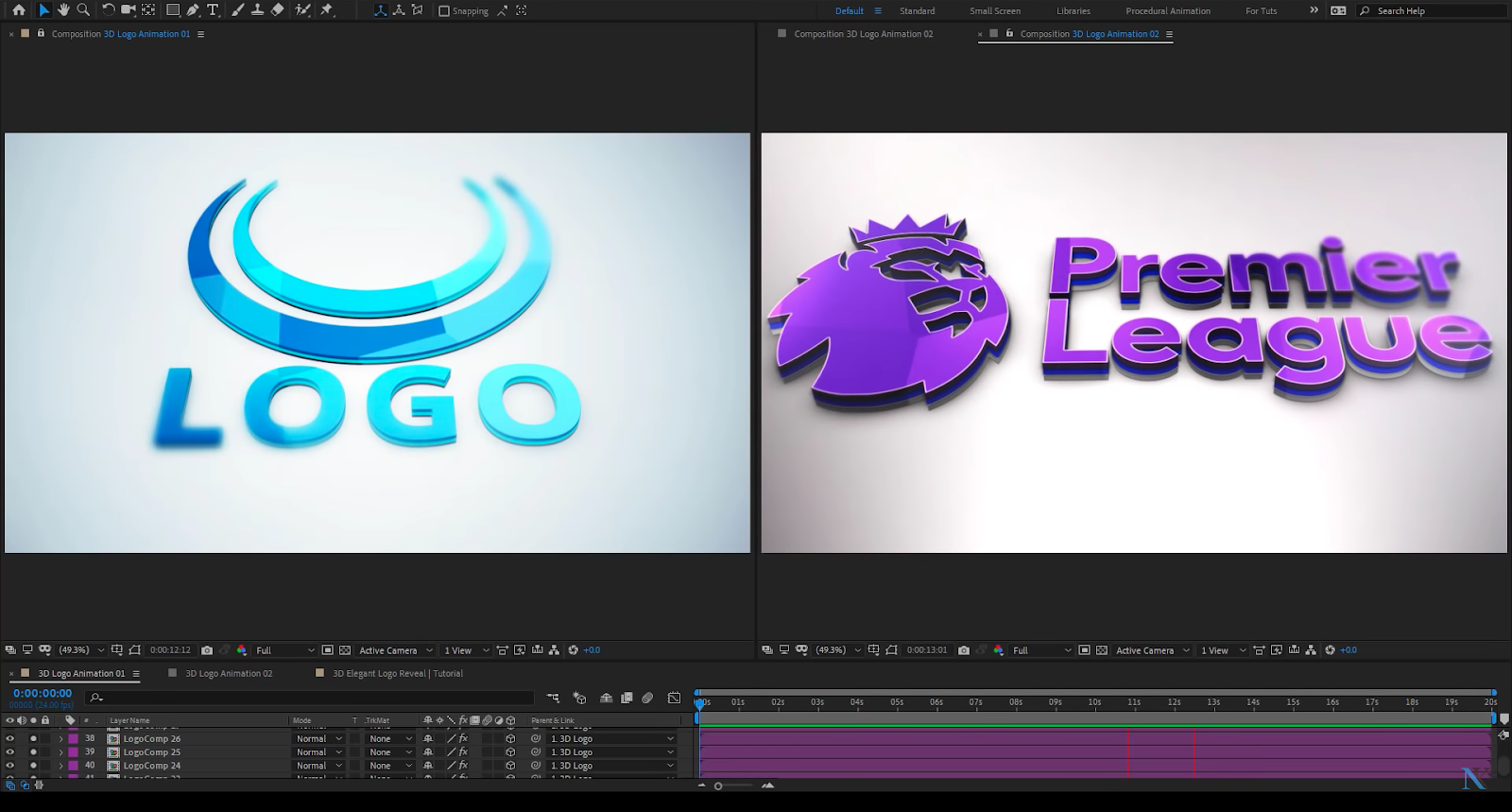 Creating 3d Glossy Logo Reveal In After Effects Cg Tutorial