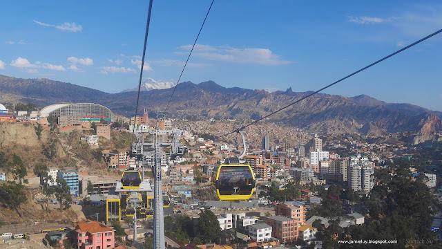 Public Transportation - Mi Teleferico Cable Car System in La Paz, Bolivia