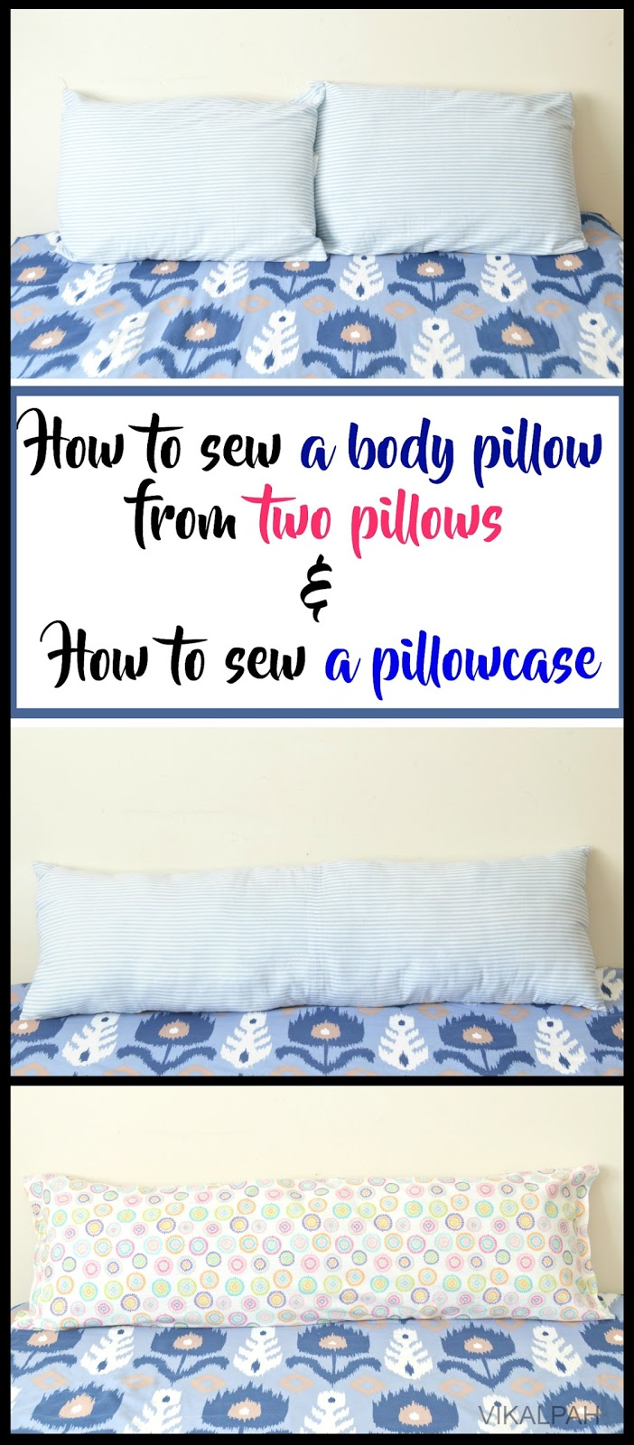 to sew a body pillow from two pillows