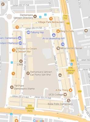 location map GST Phone Uptown Damansara