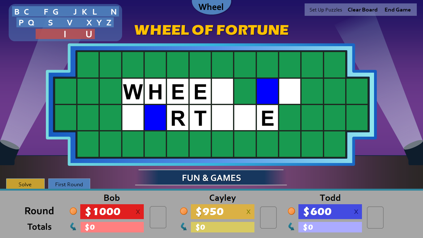 wheel of fortune for powerpoint by tim 39 s slideshow games. Black Bedroom Furniture Sets. Home Design Ideas