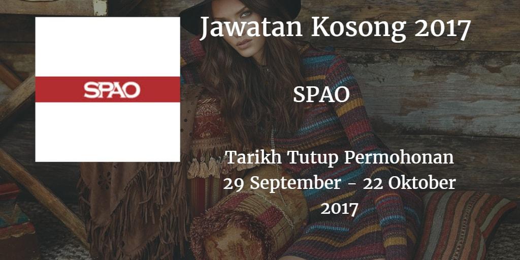 Jawatan Kosong SPAO 29 September - 22 Oktober 2017