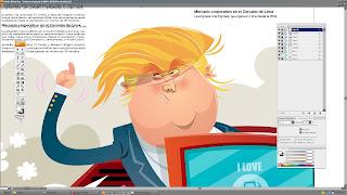 Donald Trump caricatura por CANAM