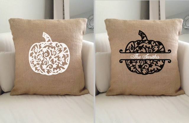fall pillows, throw pillows, halloween pillows, silhouette studio, free silhouette files, free silhouette designs fall