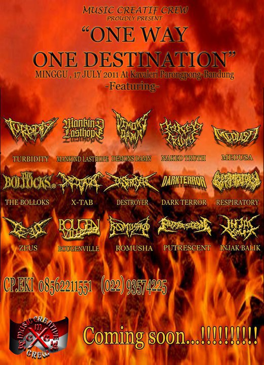 Image for Coming Soon Metal Fest - One Way Destination - Music Creatif Crew Present