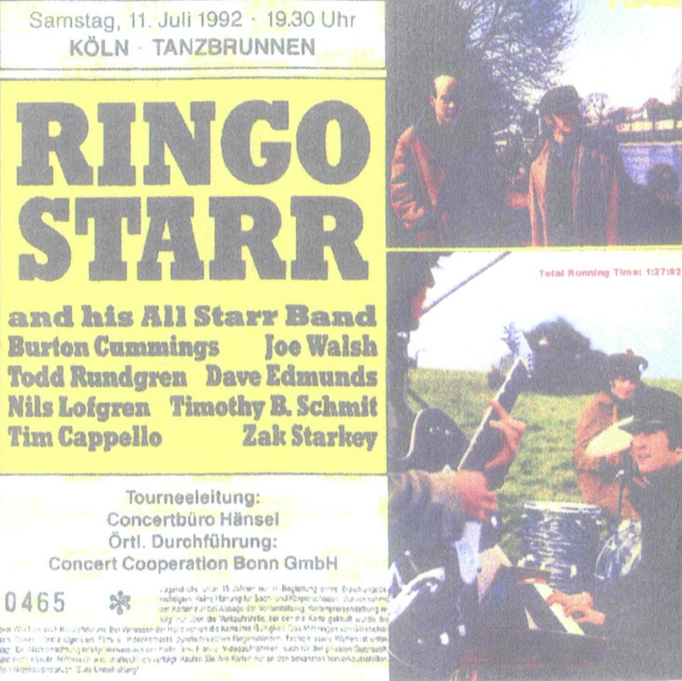 losslegs lossless bootlegs ringo starr live koln 11 07 1992. Black Bedroom Furniture Sets. Home Design Ideas