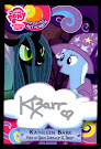 My Little Pony Kathleen Barr - Trixie & Queen Chrysalis Series 3 Trading Card