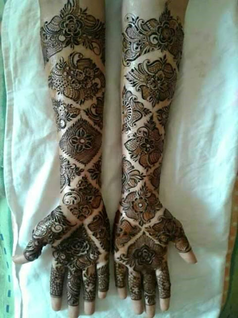 Floral Mehndi Designs For Girls