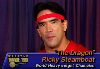 NWA - Wrestlewar 1989 - Ricky 'The Dragon' Steamboat cuts a backstage promo on hisopponent, Ric Flair
