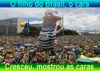 O filho do Brasil, o cara. Cresceu, mostrou as caras