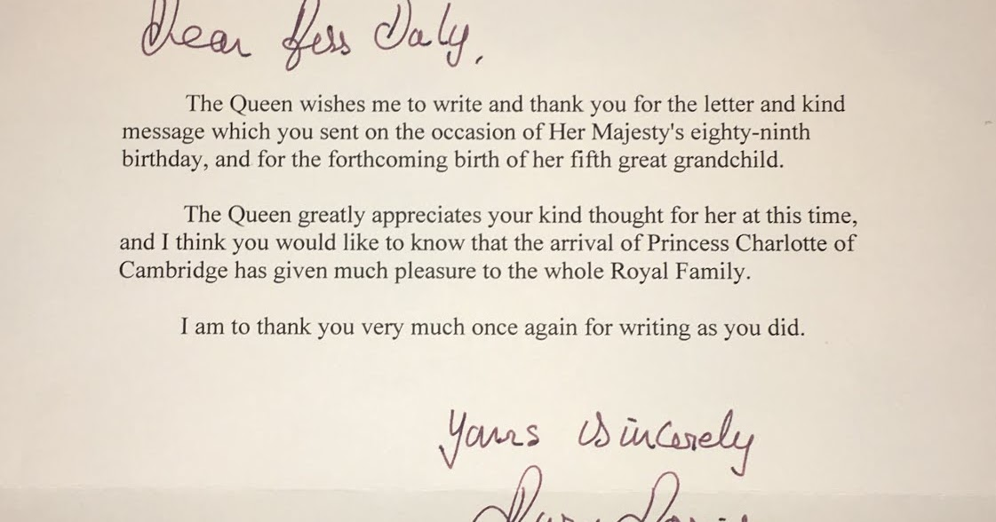 writing a letter to the royal family