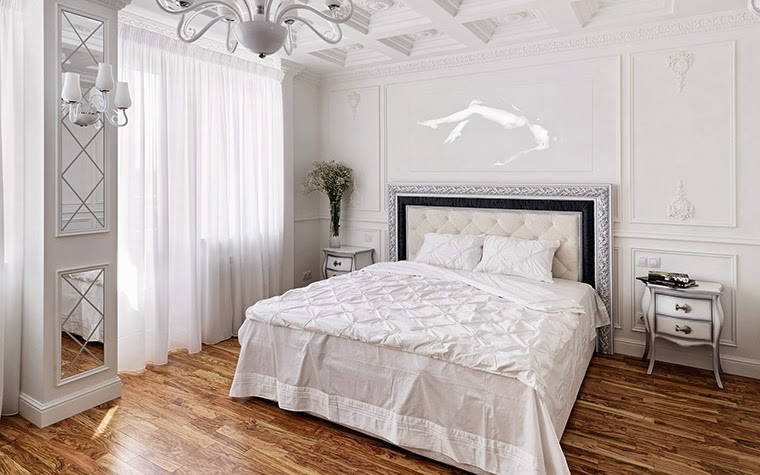 12 white bedroom designs and concepts in classic style for Modern classic bedroom designs
