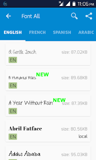 Android Font Change